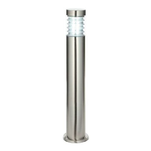 Marine grade brushed stainless steel & clear Polycarbonate Bollard 49911 by Endon